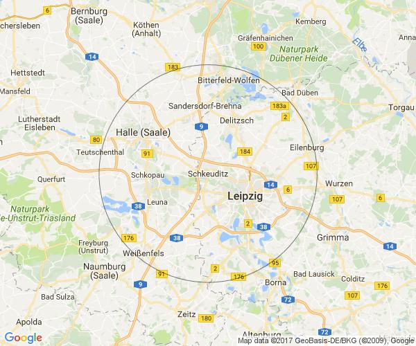 Umkreis um Schkeuditz