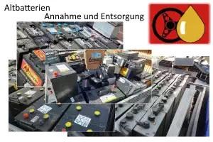 Annahme und Entsorgung von Altbatterien