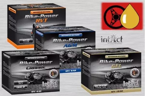 intAct Bike-Power Motorrad Starterbatterien