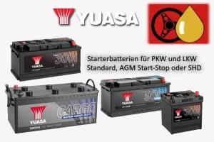 Yuasa Starterbatterien für PKW und LKW